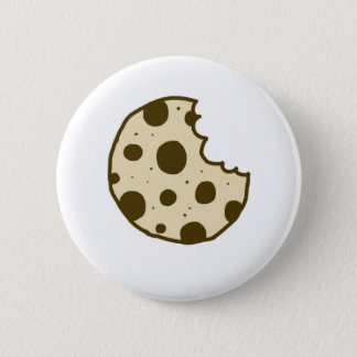 Chocolate Chip Cookie Button   Doodle Badge