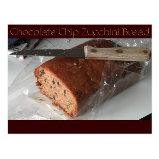 Chocolate Chip Zucchini Bread Postcard