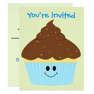 Chocolate Cupcake Invitation