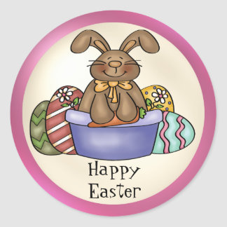 Chocolate Easter Bunny sticker