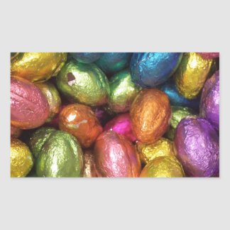 Chocolate Easter Egg Rectangle Sticker