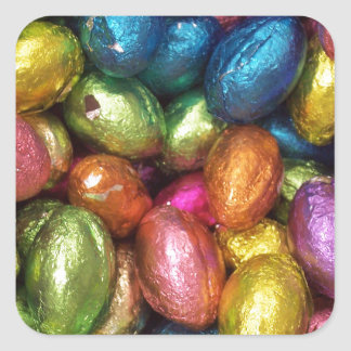 Chocolate Easter Egg Square Stickers