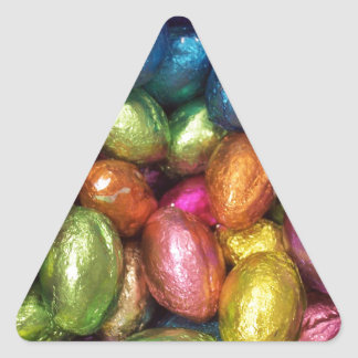Chocolate Easter Egg Triangle Stickers