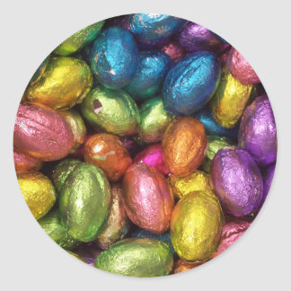 Chocolate Easter Egg Round Sticker