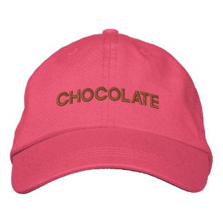 CHOCOLATE EMBROIDERED BASEBALL CAP