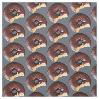Chocolate Frosted Yellow Cake Doughnuts Any BG Fabric