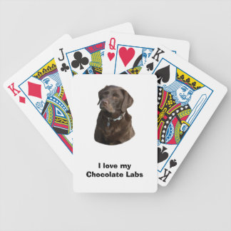 Chocolate Labrador dog photo portrait Bicycle Playing Cards