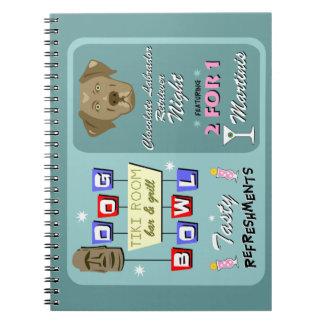 Chocolate Labrador Retriever Bowling Spiral Notebook