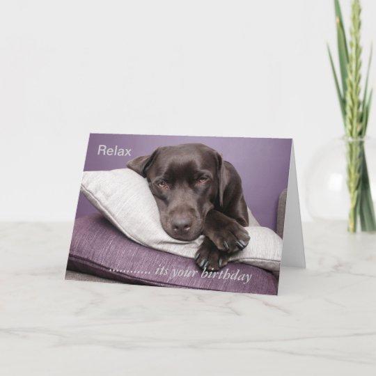 Stunning Labrador Puppy Dog Personalised Birthday Greetings Card