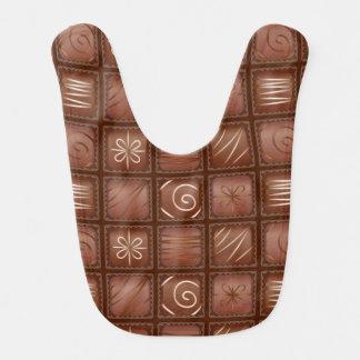 Chocolate Pattern Bib