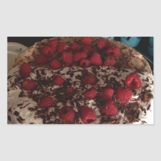 Chocolate Pavlova Rectangular Sticker