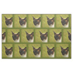 chocolate point siamese cat fabric