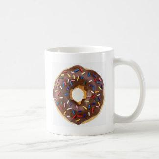 Chocolate Sprinkles Doughnut Coffee Mug