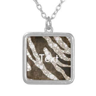 Chocolate Zebra Personalized Necklace