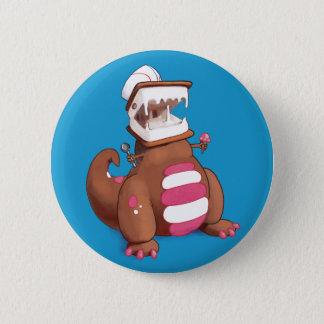Chocolatey-Rex 6 Cm Round Badge