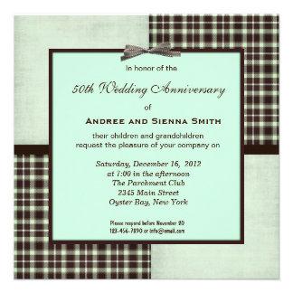 ChocoMint 50th Wedding Anniversary Invitation
