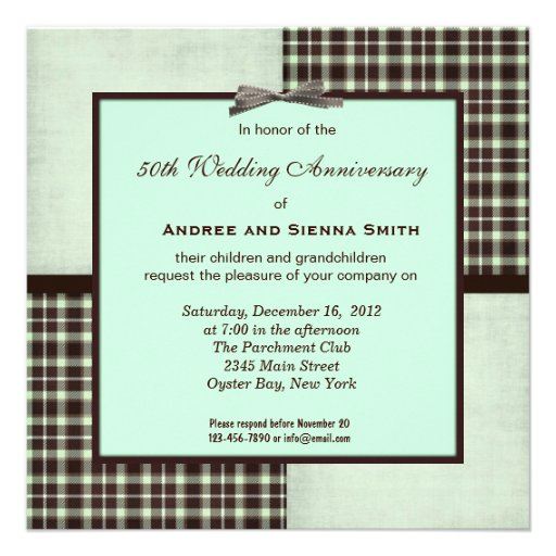 ChocoMint 50th Wedding Anniversary Invitation