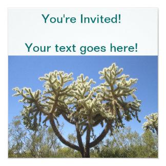 Cholla Cactus 13 Cm X 13 Cm Square Invitation Card