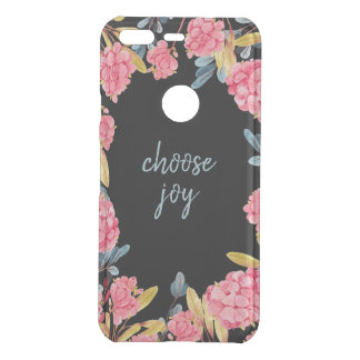 Choose Joy Phone Case - Pink and Blue Floral
