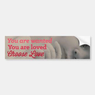 Choose Love Pro Life Bumper Sticker