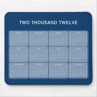 Choose Your Color 2012 Basic Calendar Mousepad