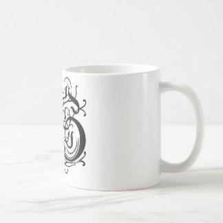 Choose your color Background Monogrammed letter S Coffee Mug