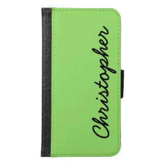 CHOOSE YOUR COLOR Galaxy S6 Wallet Case Neon Green