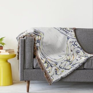 Choose Your Custom Color Damask by Leslie Harlow Throw Blanket