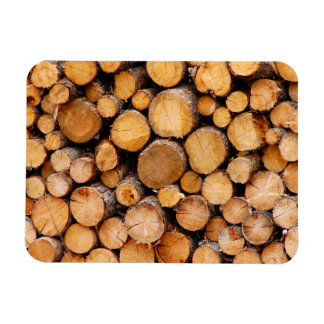 Chopped firewood magnet