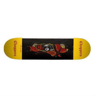 Chopper bike cool skateboard design