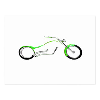 Chopper Dreaming Green The MUSEUM Zazzle Gifts Post Cards