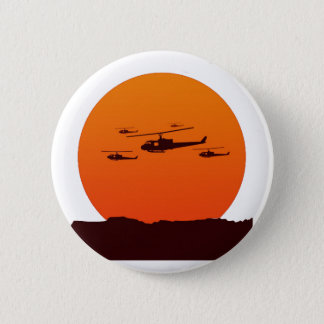 choppers at sunset beach 6 cm round badge