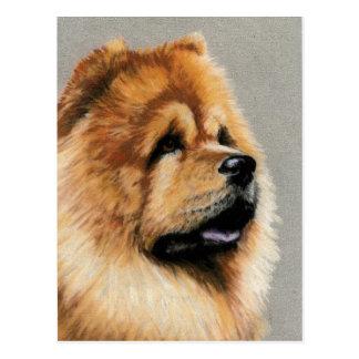Chow Chow Dog Art Postcard
