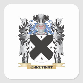 Chretinat Coat of Arms - Family Crest Square Sticker