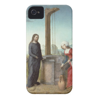 Christ and the Woman of Samaria, c.1500 (oil on pa iPhone 4 Case