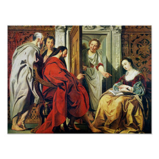 Christ at House of Martha and Mary of Bethany Print