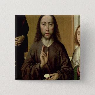 Christ Blessing 2 15 Cm Square Badge