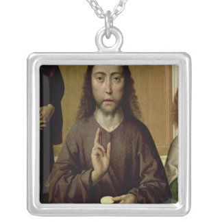 Christ Blessing 2 Silver Plated Necklace