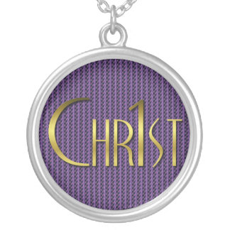 Christ First Silver Plated Necklace