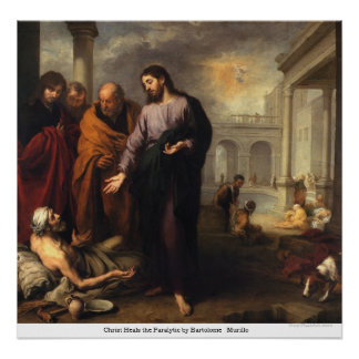 Christ Heals the Paralytic by Bartolome Murillo Poster