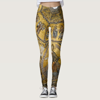 Christ in golden splendour leggings