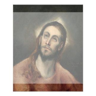 Christ in Prayer by El Greco 11.5 Cm X 14 Cm Flyer