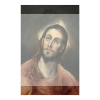 Christ in Prayer by El Greco 14 Cm X 21.5 Cm Flyer