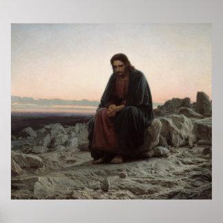 Christ in the Desert Print