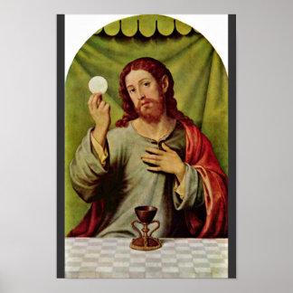 Christ In The Eucharist By Juanes Juan De (Best Qu Poster