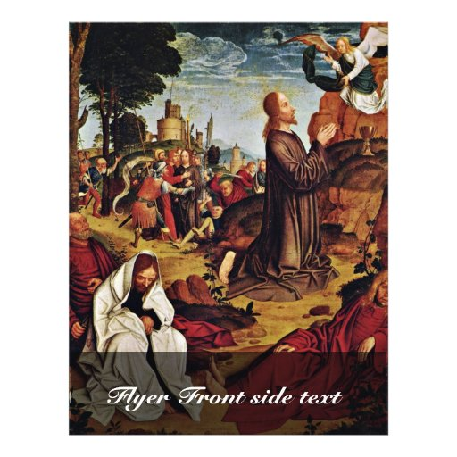 Christ On The Mount Of Olives By Meister Von St. S Flyer