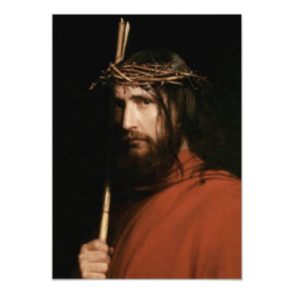 Christ with Thorns. Fine Art Customizable Cards Invite