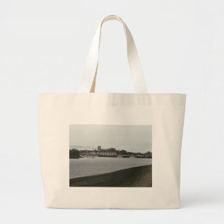 Christchurch Priory from Stanpit Marsh Canvas Bag