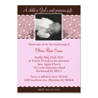 Christening/Baptismal Invitaion Card