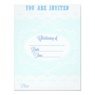 Christening Invitation for a Boy